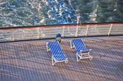 Rear Deck Loungers stock images