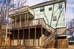 Rear Decks on a House royalty free stock photo