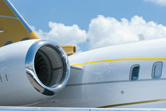 Rear details of business jet stock photography