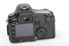 Rear Of Digital SLR. Close up view of the back of a digital SLR camera Stock Photos