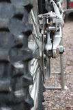 Rear of Dirtbike Royalty Free Stock Images