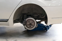 Rear Disk brake assembly. On a modern car Royalty Free Stock Photography