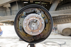 Rear drum brake Stock Photo