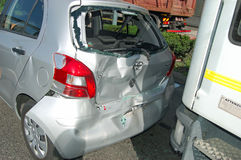 Rear-end collision Stock Image