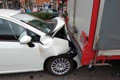 Rear-end collision stock photos