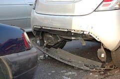 Rear-end collision. In urban area royalty free stock photos