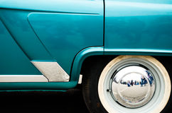 Rear end of an old car.  royalty free stock images