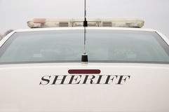 Rear end of a sheriff's car Royalty Free Stock Photography