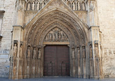Rear entrance to Valencia Cathedral Royalty Free Stock Images