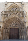 Rear entrance to Valencia Cathedral Stock Photo