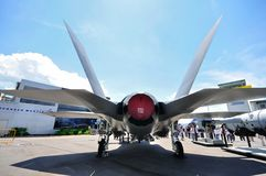 Rear of F-35 Joint Strike Fighter. On display at Singapore Airshow 2010 Royalty Free Stock Image