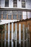 Rear facade. Construction in northern Spain , details Stock Images