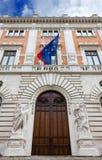 Rear Facade of Montecitorio Palace Stock Image