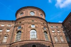 The rear facade of Palazzo Carignano, Turin Royalty Free Stock Photos