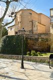 Rear Facade Of The Parochial Church Dating In The 16th Century In Trillo Town. Architecture, Travel, Nature. royalty free stock photos