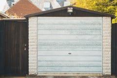 Rear Garage  and garden door Stock Image