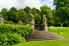 Rear gateway to the formal gardens of Pollok House, in Pollok Es Stock Photo
