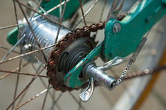 Rear hub of old bicycle Royalty Free Stock Photography