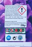 Rear Label and Symbols on a Extra large 80 Wash XXL Bold Branded Washing Powder in Recyclable Cardboard Box stock image
