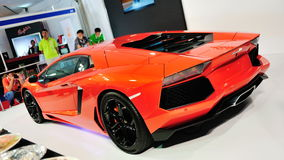 Rear of Lamborghini Aventador LP 700-4 Stock Photography