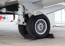 Rear landing gear light aircraft Stock Images
