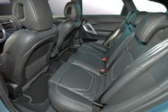 Rear leather seat Stock Photo