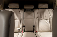 Rear leather seats. Royalty Free Stock Image