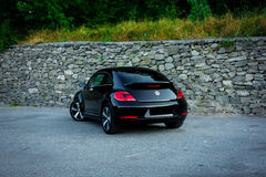 Rear left side view of cabriolet sport german car Stock Photography