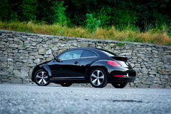 Rear left side view of cabriolet sport german car view from ground surface Royalty Free Stock Images