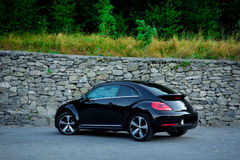 Rear left side view of cabriolet sport german car view from ground surface royalty free stock photography