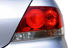 Rear Light. Back light on a new design car in showroom Stock Photo