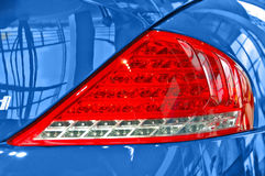 Rear light. Shiny rear light of a sportscar Stock Photo
