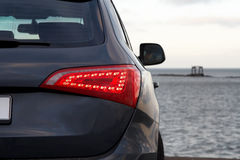 Rear light. Luxury SUV rear light closeup Stock Image