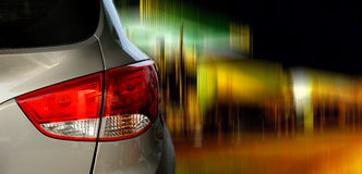 Rear light of a car. Close-up Stock Image