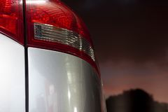 Rear light car. Rear light car with float on night Royalty Free Stock Image