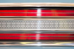 Rear light of car with symmetrical pattern. Stock Images