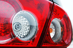 Rear light close up. Red car rear light close up Royalty Free Stock Photography