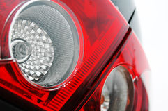 Rear light close up. Red car rear light close up Royalty Free Stock Photos