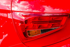 Rear light close-up. Red car rear light close-up Royalty Free Stock Image
