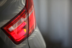 Rear light. Detail on the rear light of a car Royalty Free Stock Photography