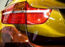 Rear Light Of Modern Car. Rear Light Of Colorful Modern Car Stock Image