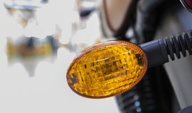 A rear light  of motorcycle. Selective focus Stock Images
