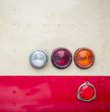 Rear light of the old bus Royalty Free Stock Photography