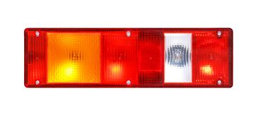 Rear light of a truck. Isolated on white background Stock Photos