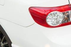 Rear light white car Stock Photo