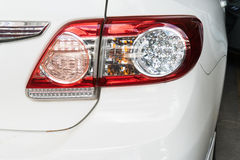 Rear light on white car Stock Photography