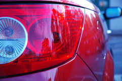 Rear lights. Close-up of parts of a new car Royalty Free Stock Photos