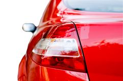 Rear lights. Of a red car royalty free stock photography