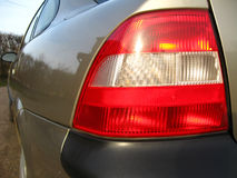 Rear lights. Car rear lights combined with the break and turning lights Stock Photo