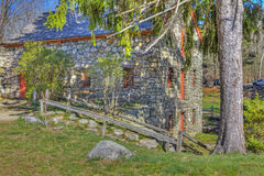 Rear Of Longfellow's Wayside Inn Grist Mill Royalty Free Stock Images